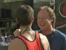 Bill Leslie interviews marathon winner