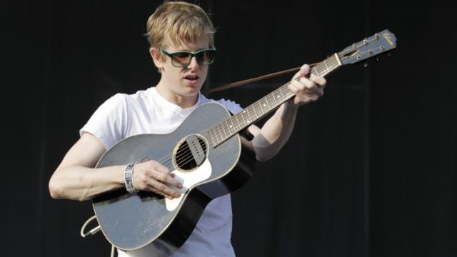 Britt Daniel of Spoon performs at the Lollapalooza music festival in Chicago on Saturday, August 7, 2010. (AP Photo/Brian Kersey)