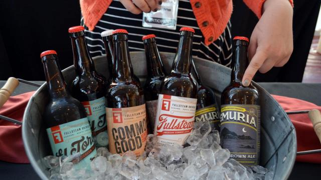 Durham's Fullsteam offered samples of their beer during the Grand TASTE Experience at the DPAC.