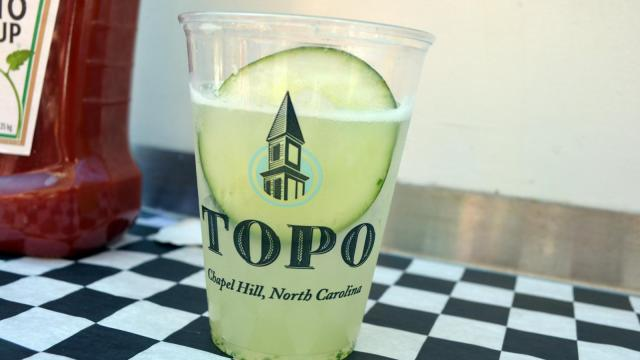 TOPO Distillery poured up some cocktails during Brewgaloo in downtown Raleigh on April 26, 2014.