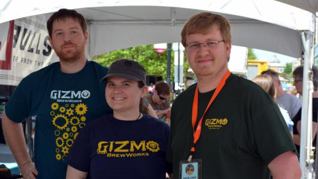 Gizmo served up samples at Brewgaloo in downtown Raleigh on April 26, 2014.