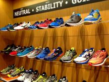 TrySports at Chapel Hill's University Mall helps runners find the right running shoes through a five-step analysis. (Photo by John Huisman)