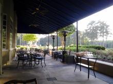 Patio dining at Washington Duke Inn (Image from Hadassah Patterson)