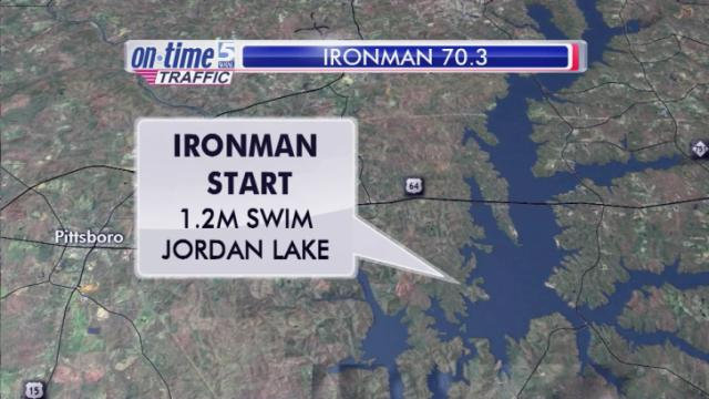 More than 3,000 athletes are expected to swim, bike and run through parts of Chatham and Wake counties on Sunday as the Ironman race returns to Raleigh for the second consecutive year.
