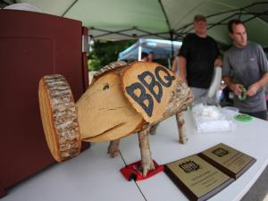 Peak City Pig Fest, Apex, N.C. in downtown Apex on June 21, 2014. (Chris Baird / WRAL Contributor).