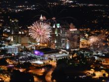 People celebrated Independence Day in downtown Raleigh on July 4, 2014.