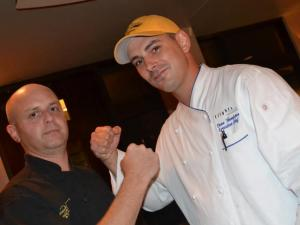 Jimmy V's Steakhouse and Tavern's Steve Zanini and Flights' Dean Thompson faced each other in the Fire in the Triangle finale on Aug. 4, 2014.