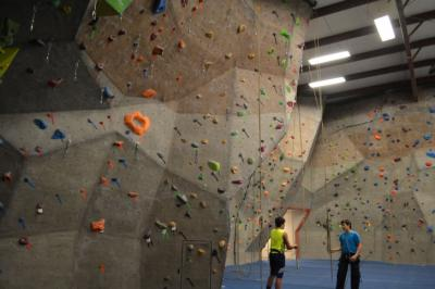 A look at the walls at Triangle Rock Club in Morrisville.