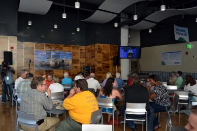 Bluegrass fans crowded the NC Museum of Natural Sciences in Raleigh for a viewing party for the IBMA Awards nominations on Aug. 13, 2014.