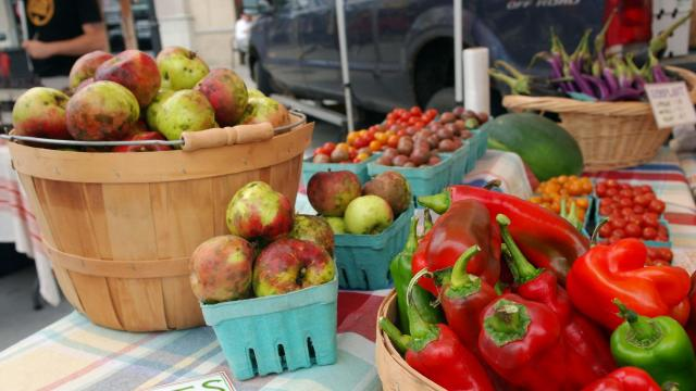 Music, fresh foods and local crafts draw families to the Midtown Farmers' Market.