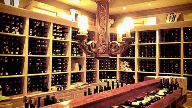 The wine cellar at Fearrington House