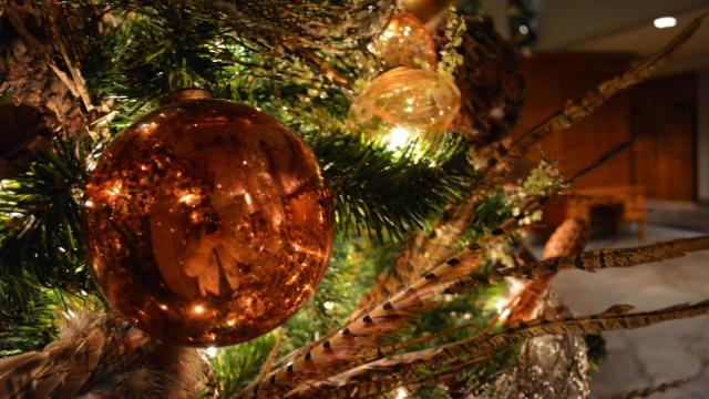 A look at holiday decorations at the Grove Park Inn in Asheville.