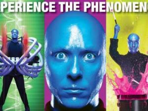 Experience the Phenomenon. BLUE MAN GROUP is best known for their wildly popular theatrical shows and concerts which combine comedy, music, and technology to produce a totally unique form of entertainment.