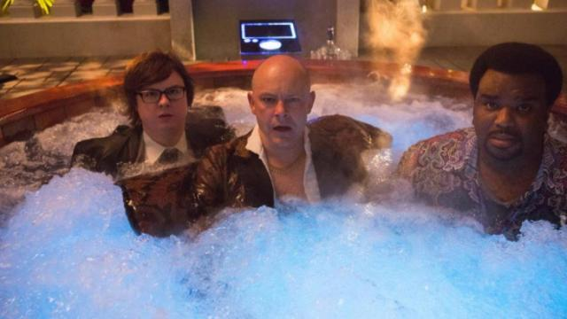 "FClark Duke is Jacob, left, Rob Corddry is Lou, and Craig Robinson is Nick in a scene from the motion picture ""Hot Tub Time Machine 2."" CREDIT: Steve Dietl, Paramount Pictures / Metro-Goldwyn-Mayer Pictures"