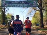Runners get encouragement at WRAL water stop