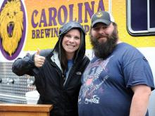 Brewgaloo, the NC Craft Beer Festival, was presented by Shop Local Raleigh on Saturday, April 25, 2015. The event was held in City Plaza and featured food trucks, love music and local beers. Photo By Christine Adamczyk.