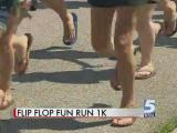Runners flip and flop toward world record