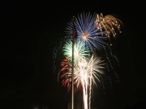 Fireworks light up the sky in Garner