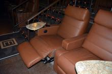 CineBowl and Grille's Dine and Recline theater offers these plush chairs.