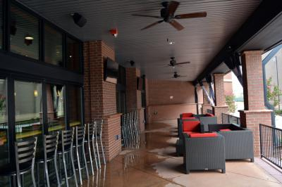 CineBowl and Grille's outdoor seating area will feature TVs, heaters for the winter and curtains.