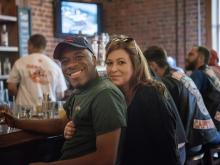 Fans of the Raleigh brewery and restaurant turned out Saturday for a farewell bash. The establishment closed its doors for good at 2 a.m. Sunday. Photos by Patricia Meszler.