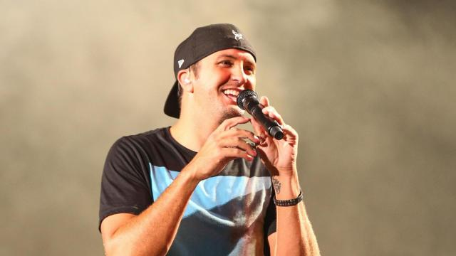 Luke Bryan on his Kick Up the Dust tour at Walnut Creek Amphitheater in Raleigh N.C. on September 25, 2015 (Chris Baird / WRAL Contributor).