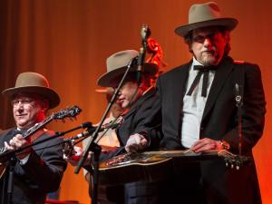 Jerry Douglas and The Earls of Leicester play the main stage, Ballroom A-B, during the 2015 Wide Open Bluegrass Festival, Oct. 3, 2015. (JOHN WEST/WRAL contributor)