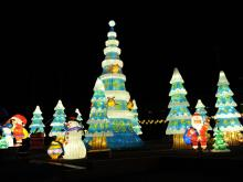 2015 North Carolina Chinese Lantern Festival was previewed at Koka Booth Amphitheater in Cary on November 23, 2015. The festival runs from November 28, 2015 through January 3, 2016.