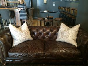 Vita Vite in downtown Raleigh offers a comfortable seating to enjoy wine and art.