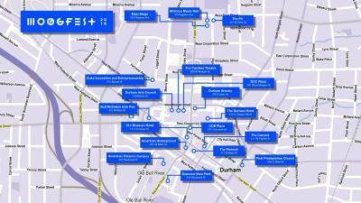 Moogfest 2016 Map