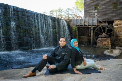 Samreen and her husband, Yousuf, own Kababish Cafe. Photo courtesy of Matt Williams Photography.