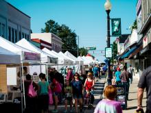 Crowds came out early to check out local shops and vendors at Peakfest.(Dave Shay/WRAL Contributor)