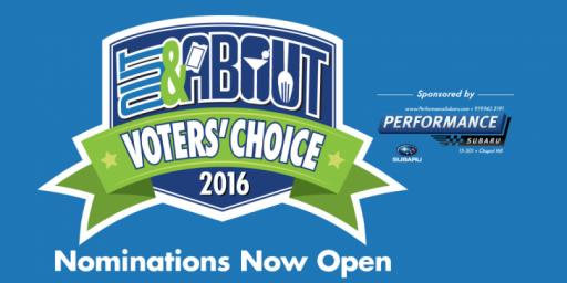 2016 Out and About Voters' Choice Awards