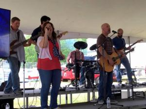 The talented band from The Gathering Community Church entertained attendees with inspiring music.