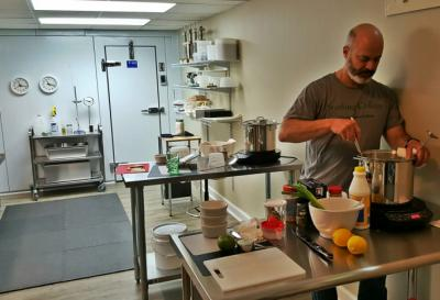 Richard Nathan created a new cheese kitchen in his Raleigh home to teach others how to make cheese.