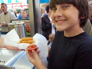 Mozzarella sticks were also popular at the stand.