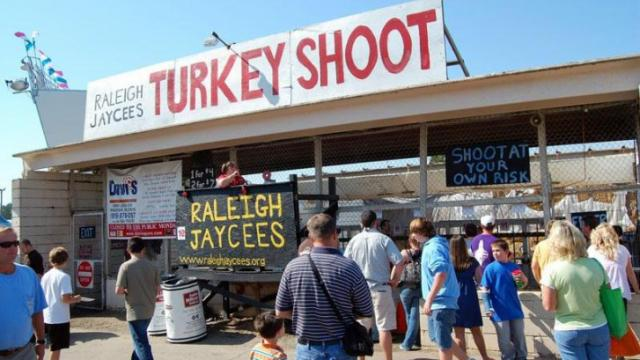 The Raleigh Jaycees sponsored a Turkey Shoot at the fair.