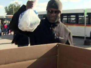 People donated canned goods to get into the State Fair for free on Oct. 20, 2011, during the fair's annual Hunger Relief Day to benefit the Food Bank of Central & Eastern N.C.