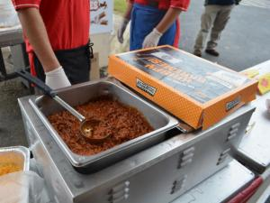 Sloppy Joe Krispy Kreme burgers are new at the 2013 N.C. State Fair.
