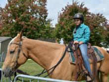 New at N.C. State Fair this year: Learn how to ride a horse during a 5-minute lesson.