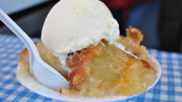 Anderson and Daughters apple cobbler at the N.C. State Fair.