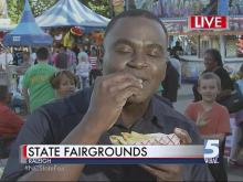 Ken Smith shows off his fair favorites
