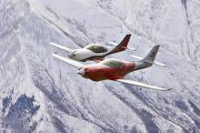 Mark and Mike both fly their planes. They are on their way to breaking the world transcontinental speed record for single engine internal combustion aircraft. (Deseret Photo)