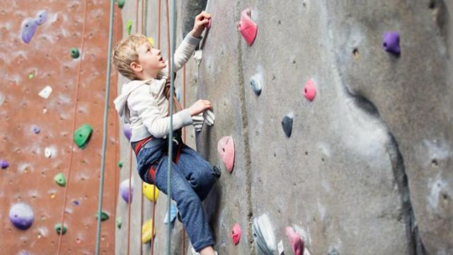 Indoor climbing has physical, mental and social benefits for kids ages 3 and up. (Deseret Photo)