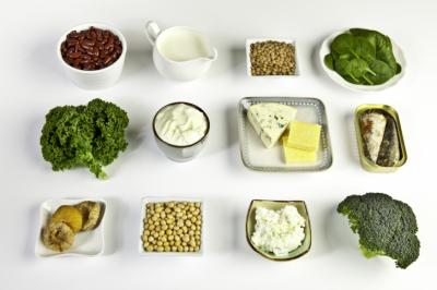 Food sources of calcium, including milk, cheese, ricotta, yoghurt, sardines, kale, broccoli, spinach, soy beans, kidney beans, lentils and figs (as per USDA nutrient databank). (Deseret Photo)