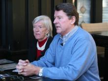 """Lois """"Lo Lo"""" Shoolbred and her son, Dave Simpson, talk about living with Alzheimer's disease."""
