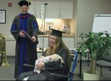 Baby born on eve of mother's graduation