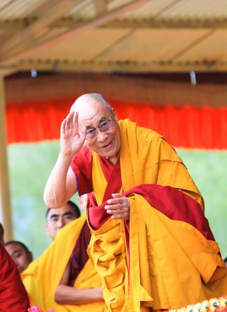 The president and spiritual leader discussed how to smooth the relationship between the Dalai Lama and Chinese officials. (Deseret Photo)