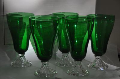 """A distant cousin sent Amy Choate-Nielsen a set of five popular and rare iced-tea goblets made in the early 1950s by Anchor Waring. The name of the line of glasses is called """"Inspiration."""" (Deseret Photo)"""