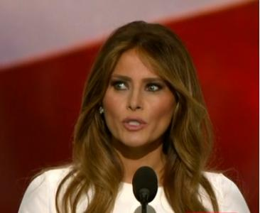 There were some brief lines within Melania Trump's speech that likely piqued the interest of people who have been worried or frustrated over some of Republican presidential candidate Donald Trump's past immigration rhetoric. (Deseret Photo)